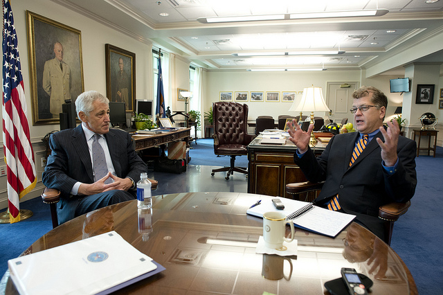 Chuck Hagel and Steve Clemons